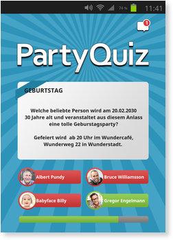 Einladungskarten Geburtstag, PartyQuiz