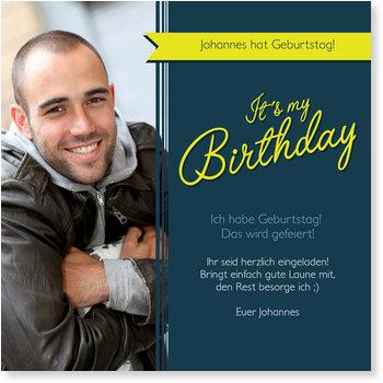 Einladungskarten Geburtstag, Banderole
