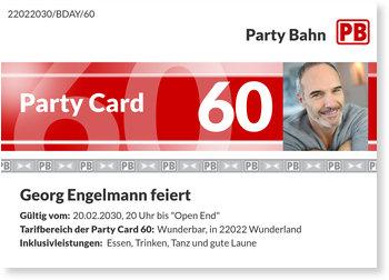 Einladungskarten Geburtstag, Party Card 60
