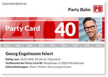Einladungskarten Geburtstag, Party Card 40