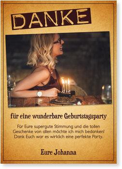 Dankeskarten Geburtstag, Geburtstagspapier