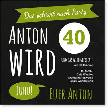 Einladungskarten Geburtstag, Juhu! Party