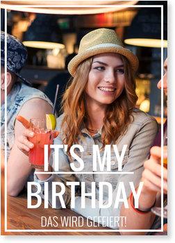 Einladungskarten Geburtstag, Picture time! in Weiss