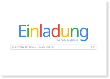 Geburtstagseinladungen, Geburtstag Suchmaschine