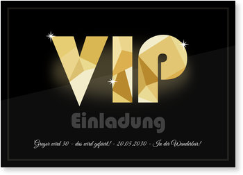 Einladungskarten Geburtstag, VIP Einladung