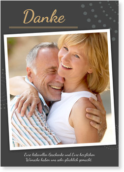 Danksagungskarten Goldene Hochzeit, 50 Jahre Glück
