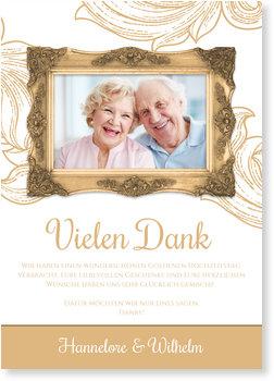 Danksagungskarten Goldene Hochzeit, Rahmen