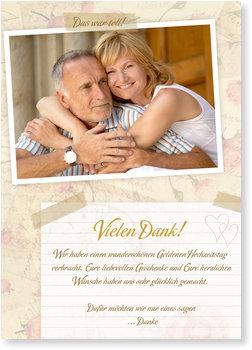 Danksagungskarten Goldene Hochzeit, Scrapbook