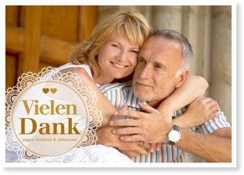 Danksagungskarten Goldene Hochzeit, Treue Liebe