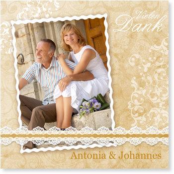 Danksagungskarten Goldene Hochzeit, Wahre Liebe