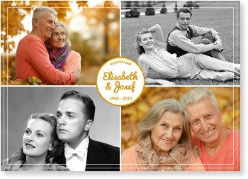 Einladungskarten Goldene Hochzeit, Label