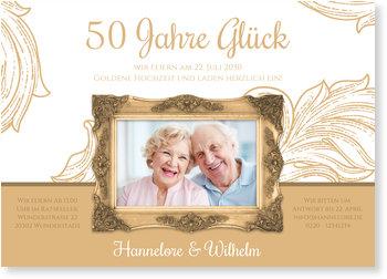 Einladungskarten Goldene Hochzeit, Rahmen