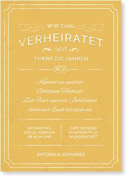 Einladungskarten Goldene Hochzeit, Vintage Hochzeit