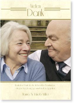 Danksagungskarten Goldene Hochzeit, Goldene Zeiten