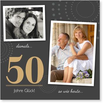 Einladungskarten Goldene Hochzeit, 50 Jahre Glück