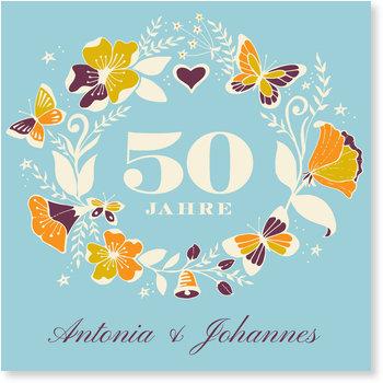 Einladungskarten Goldene Hochzeit, Für immer und ewig