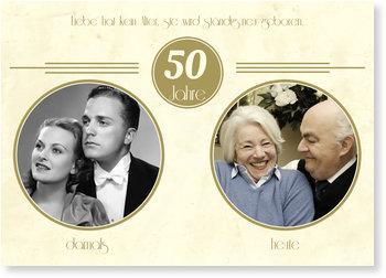 Einladungskarten Goldene Hochzeit, Goldene Zeiten