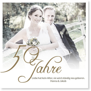 Einladungskarten Goldene Hochzeit, Typografie