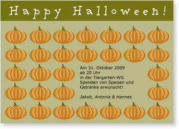 Einladungskarten Halloween , Kürbisparade