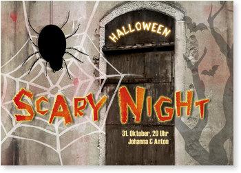 Einladungskarten Halloween , Scary Night