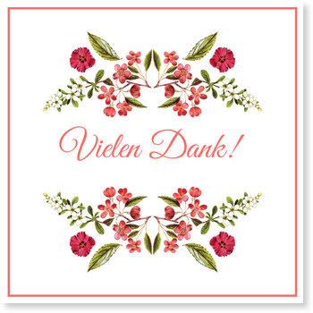 Dankeskarten Hochzeit, Hochzeitsblumen