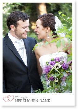 Dankeskarten Hochzeit, Liebe im Doppelpack