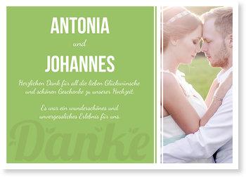 Dankeskarten Hochzeit, Zarte Schrift