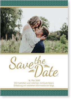 Save the Date Karten, Art Deco