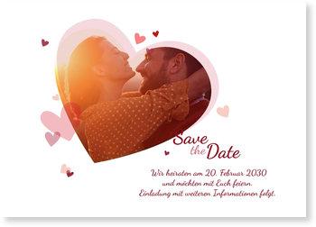 Save the Date Karten, Es soll Herzen regnen
