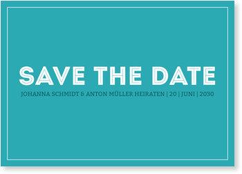 Save the Date Karten, Farbfläche