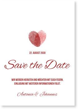 Save the Date Karten, Fingerprints