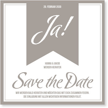 Save the Date Karten, Großes Ja