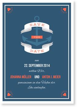 Save the Date Karten, Hafen der Ehe
