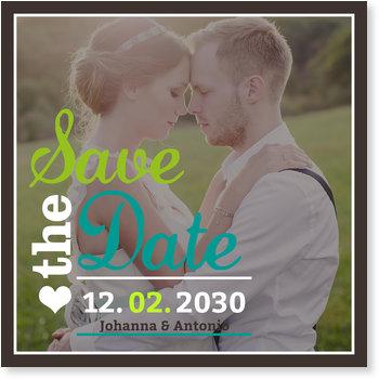 Save the Date Karten, Hochzeitstypo