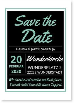 Save the Date Karten, Typografie