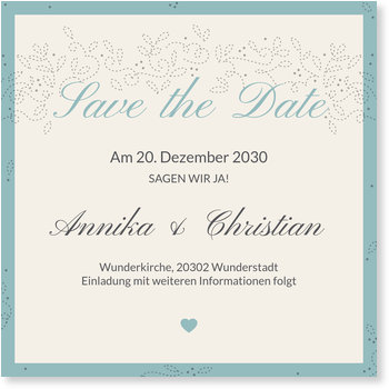 Save the Date Karten, Bezaubernd