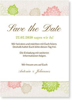 Save the Date Karten, Blühend