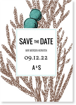 Save the Date Karten, Winter