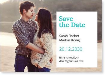 Save the Date Karten, Auf weißem Grund