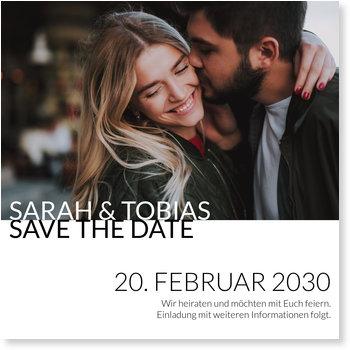 Save the Date Karten, Ausgestanzt