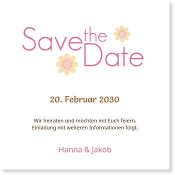 Save the Date Karten, Blümchen