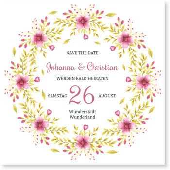 Save the Date Karten, Blütenfest