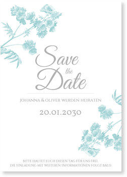 Save the Date Karten, Botanisch