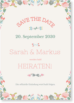 Save the Date Karten, Bouquet