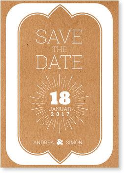 Save the Date Karten, Gerahmt