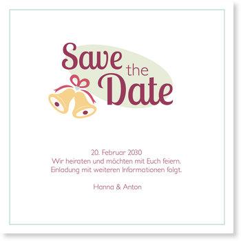 Save the Date Karten, Glöckchen
