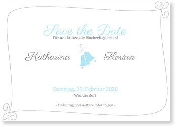 Save the Date Karten, Hochzeitsglocken