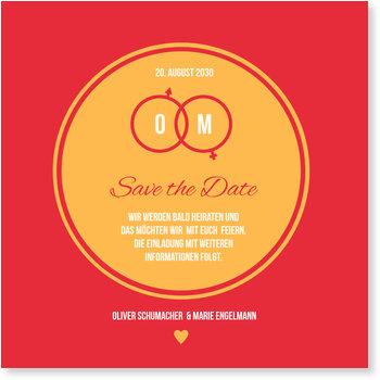 Save the Date Karten, Mars und Venus