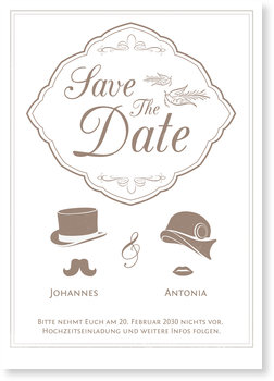 Save the Date Karten, Nostalgie