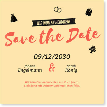 Save the Date Karten, Retrocolors